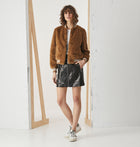 Essential Faux Fur Bomber Jacket - Camel