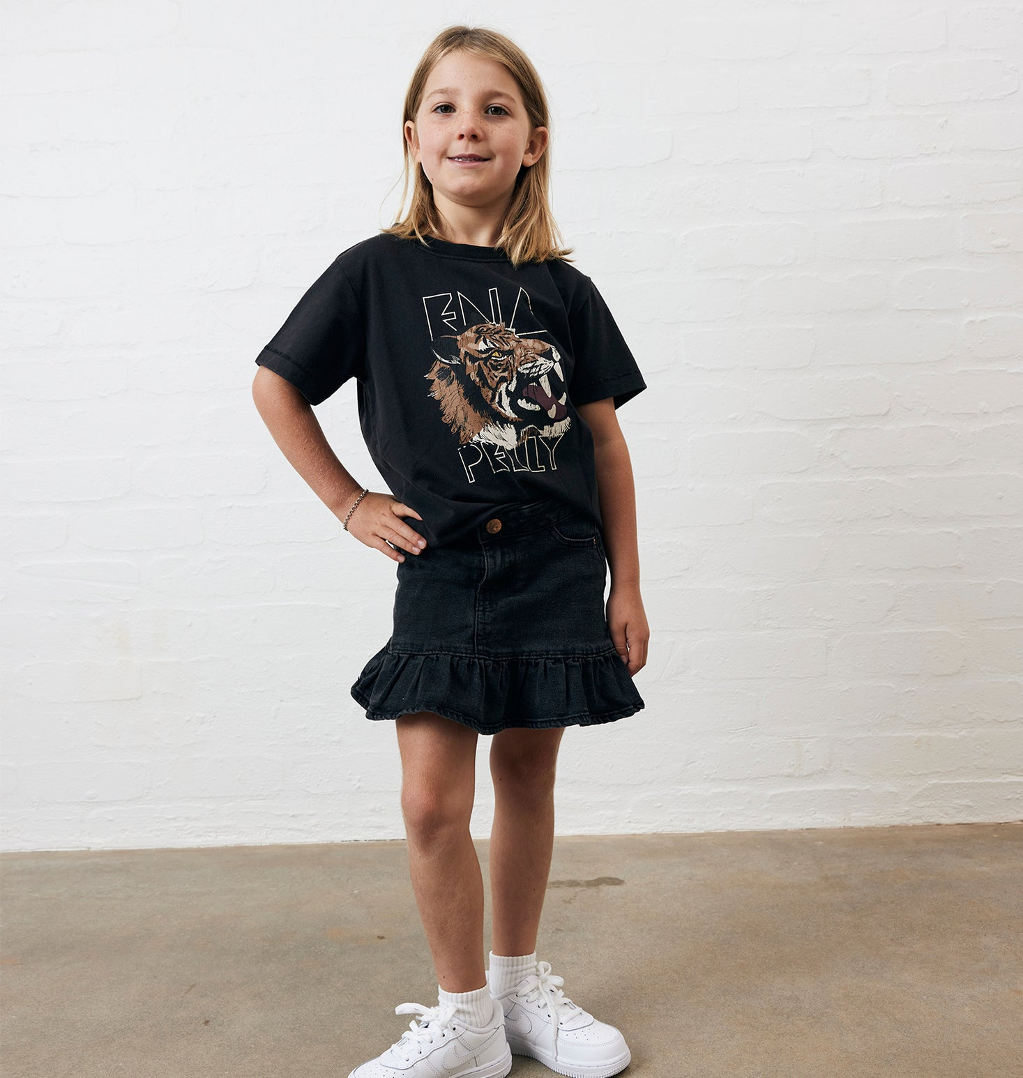 Kids - Wilderness Tee - Washed Black