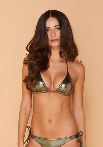 Mineral Gold Triangle Bikini Top