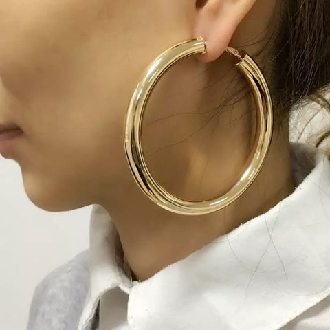 Large hallow hoop Earrings