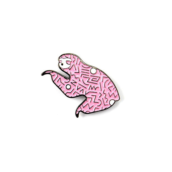 The Pink 90s Sloth Pin