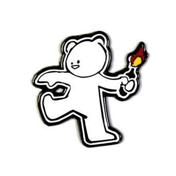 The Molotov Teddy Pin