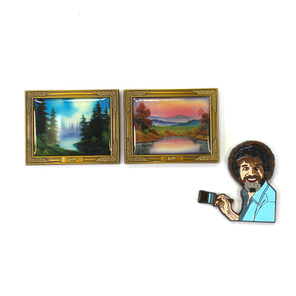 The Bob Ross Framed Works Pin Set