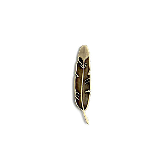 The Silver Feather Pin