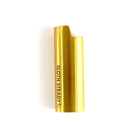 Sloth Steady Gold Lighter Case