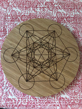 Bamboo Crystal grid, 30cm ~ Metatrons Cube (connect to the angelic realm, protection & spiritual wisdom)