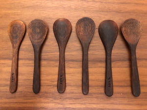 Baby wooden spoon ~ use with salt bowls
