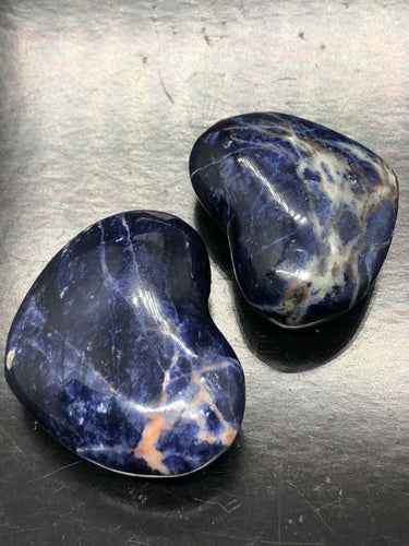 Sodalite Hearts ~ psychic & intuition abilities, calmness, self esteem, public speaking & group work