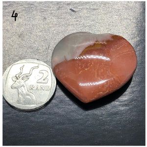 Polychrome Jasper Hearts (Small to Med) ~ positive change, exuberance, vitality, passion and creativity