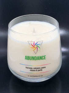 Abundance Light Candle ~ Harmony, calm, peace, cleansing & purity