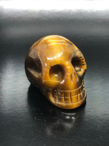 Tigers Eye Skull (small) ~ ascension & light work (5)