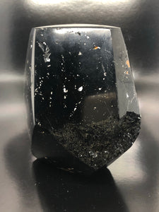 Black tourmaline, standing freeform ~ energy cleansing, balance & grounding (2)