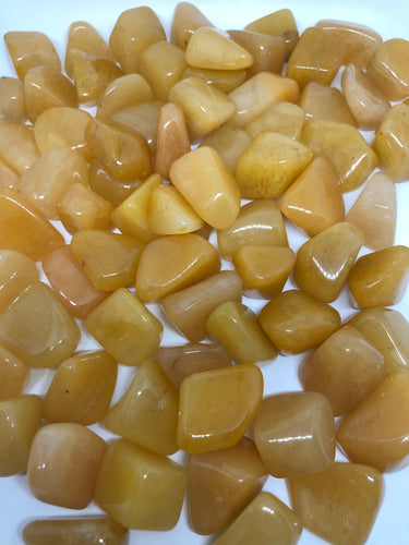 Yellow Aventurine Tumbles ~ balancing power & control, helps you be your true self