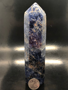 Sodalite Isis Point ~  psychic & intuition abilities, calmness, self esteem, public speaking & group work (5)