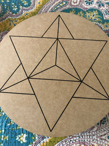 Crystal grid, 30cm ~ Merkaba (spiritual ascension and manifestation)