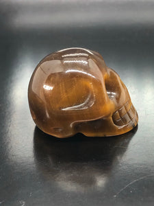 Tigers Eye Skull (small) ~ ascension & light work (7)
