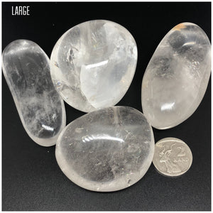Clear Quartz Gallets | Palmstones ~ Power, clarity, amplification, connection, truth & perspective