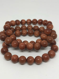 Gold sunstone bracelet ~ for abundance & leadership