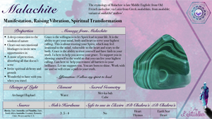 Malachite Egg (large) ~ Manifestation, raising vibration & spiritual transformation (10)
