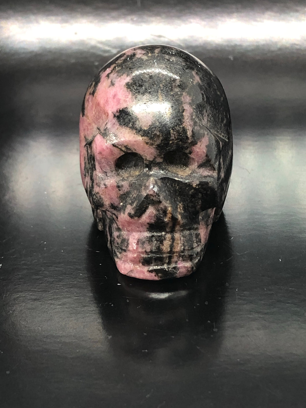 Rhodonite Skull ~ ascension & light work (2)