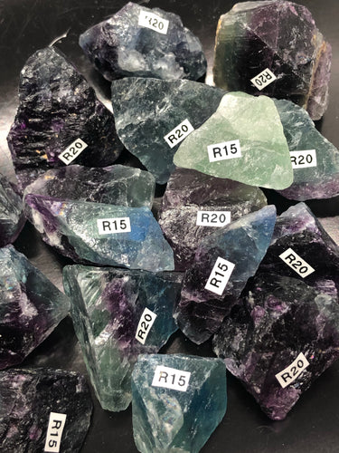 Watermelon Fluorite, Natural Chunks ~ mental achievements, expanded consciousness & heart healing