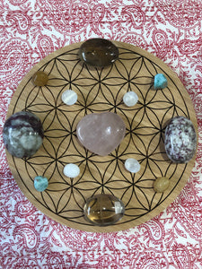 Bamboo Crystal grid, 30cm ~ Flower of Life (all purpose grid)