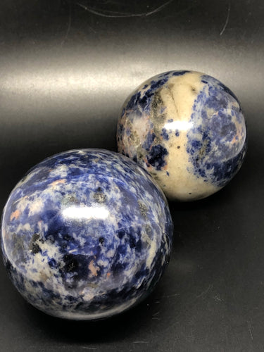 Sodalite spheres ~  psychic & intuition abilities, calmness, self esteem, public speaking & group work