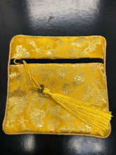 Silky Zip Pouch with tassel ~ 11 colours to choose from