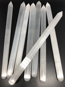 Selenite points (thin) ~ for crystal grid activation (1)