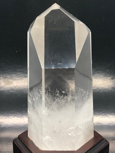 Clear Quartz Channeling Point with a time link (32)