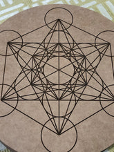Crystal grid, 30cm ~ Metatrons Cube (connect to the angelic realm, protection & spiritual wisdom)