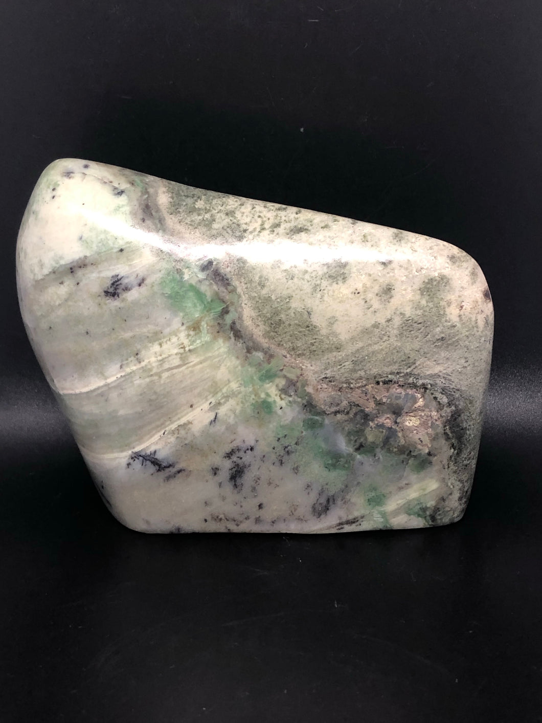 Rare Green Transvaal Jade, self standing freeforms ~ success, luck, protection & conduits of earths life force (4)