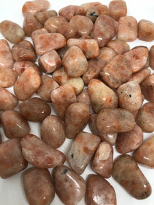 Natural Sunstone Tumbles ~ abundance, leadership & creativity