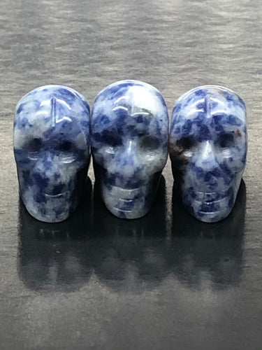 Mini Sodalite Skulls (pendant) ~ ascension & light work
