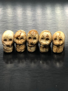Mini Picture Jasper Skulls (pendant) ~ ascension & light work