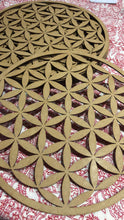 Crystal cut out grid, 30cm ~ Flower of Life (all purpose grid)