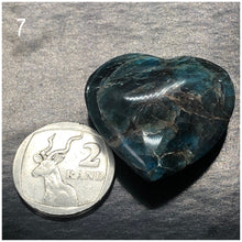 Rare Blue Apatite Hearts (small) ~ clears confusion & negativity, aura cleanser & access Akashic records
