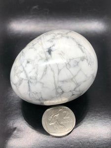 White Howlite Egg (medium) ~ peace & calm (#1)