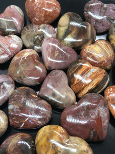 Petrified Wood Hearts (small) ~ grounding, integration, faith, I amness & balance
