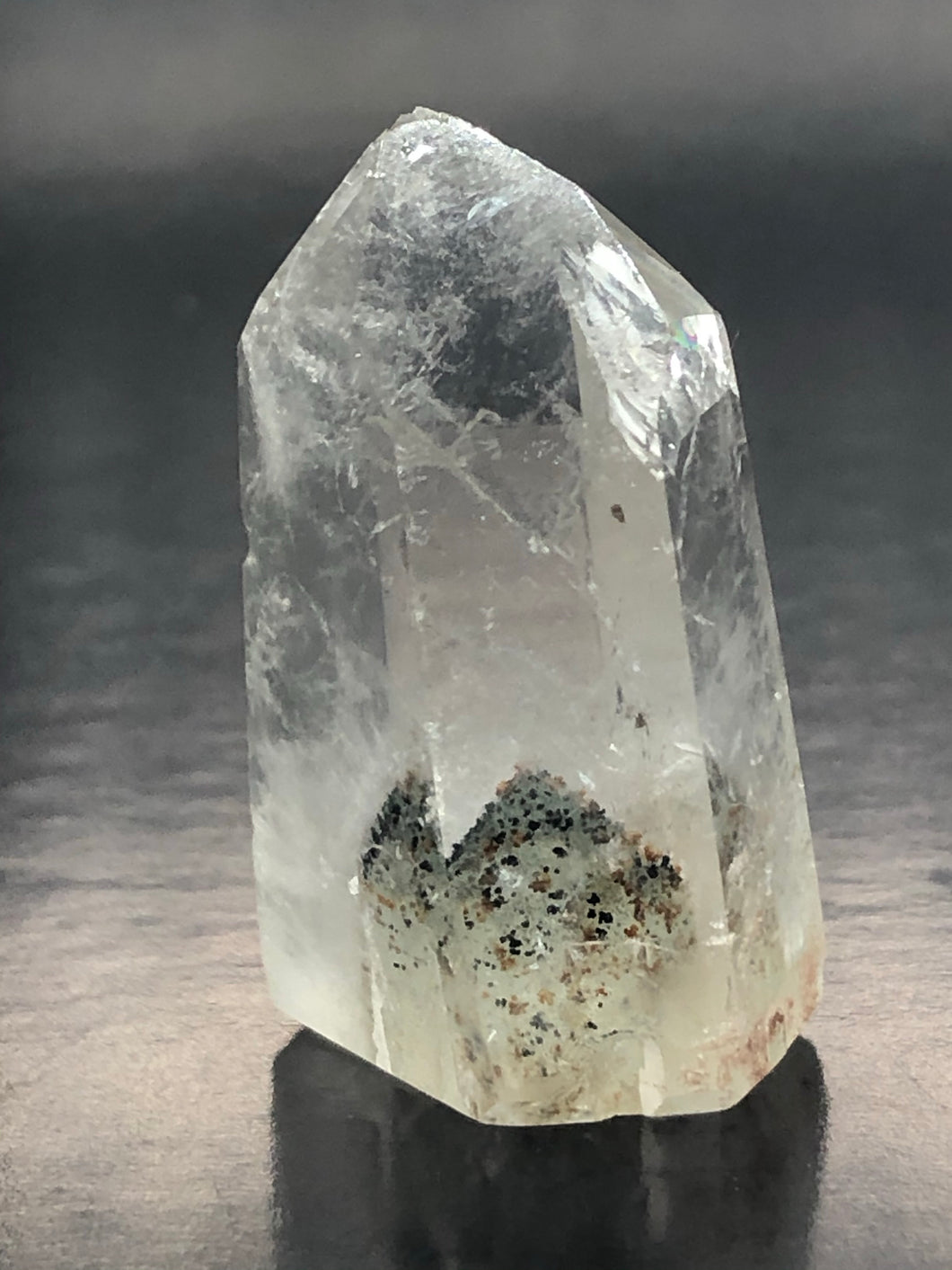 Clear Quartz Point (small) ~ crystal growing in a crystal (UC2)