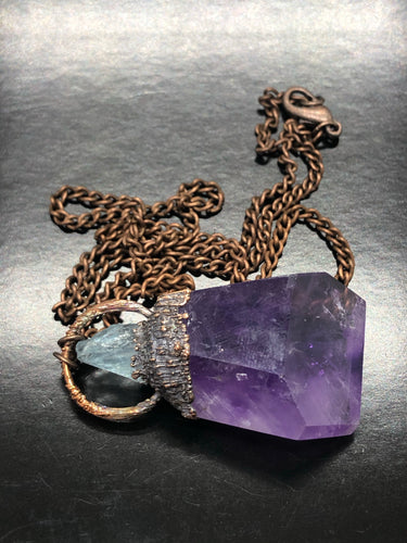 Soul Awakening, Amethyst & Aquamarine Necklace (#3)