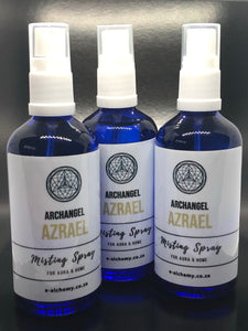 Misting spray ~ Archangel Azrael (transition through life changes and dealing with the grief of death)