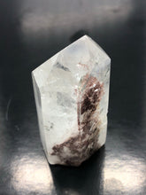Clear Quartz Isis Point with hematite inclusions ~ self healed (30)