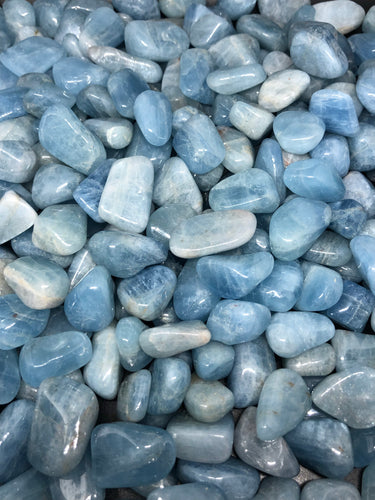Aquamarine Tumbles (small) ~ release, detachment, speaking from the heart & freedom