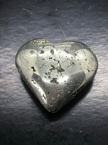 Pyrite Heart (Medium) ~ Abundance, truth, confidence, focus, creativity & potential (3)