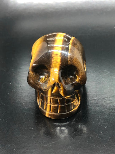 Tigers Eye Skull (small) ~ ascension & light work (4)
