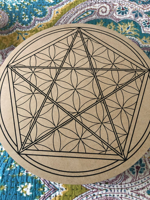 Crystal grid, 30cm ~ (2021 Freedom, living in Grace & Acceptance)
