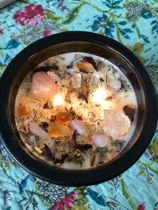 Ascension Candle ~ lighting & supporting your spiritual path (includes Ascension Crystals)