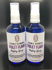 Cosmic Diamond Violet Flame, misting spray ~ the flame of transmutation to 5th dimensional energy