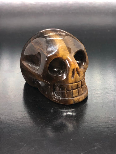 Tigers Eye Skull (small) ~ ascension & light work (6)